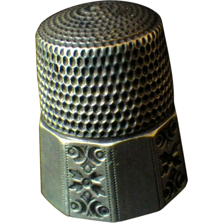 Vintage Signed Sterling Silver Thimble