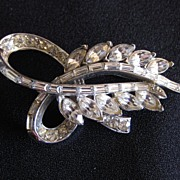 Vintage Early Signed Coro Craft Rhinestone Brooch