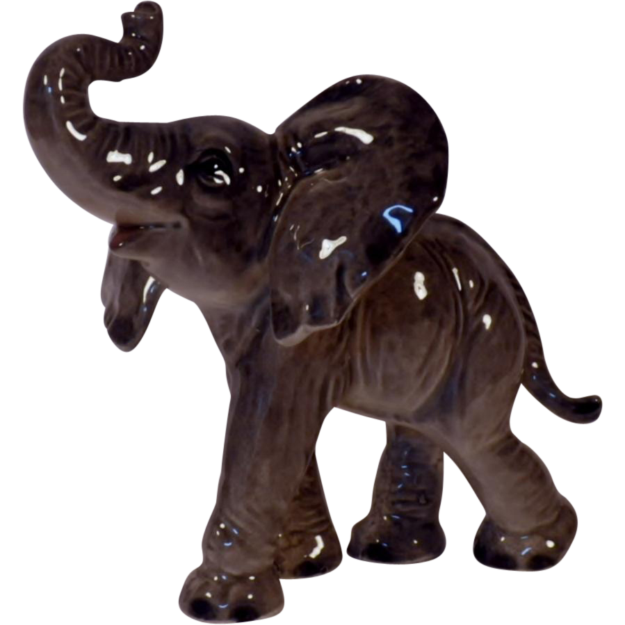 vintage signed goebel african elephant figurine from blomstromantiques on ruby lane. Black Bedroom Furniture Sets. Home Design Ideas