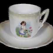 Rare Vintage Johann Seltmann Lustreware Cup and Saucer Set