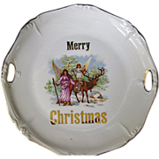 "Vintage Porcelain ""Merry Christmas"" Plate"