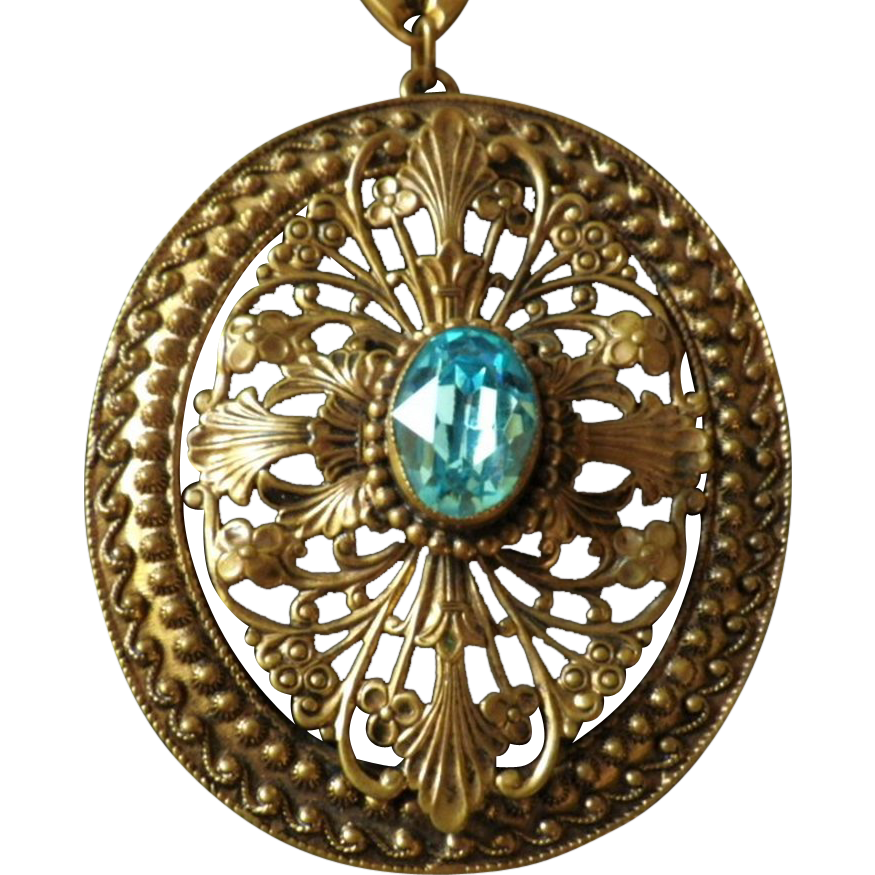 Vintage Art Deco Pendant Necklace