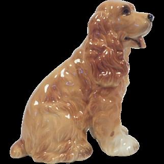 Vintage Josef Original Honey Buff Cocker Spaniel Figurine