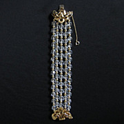 Vintage Goldtone & Crystal Bead Bracelet