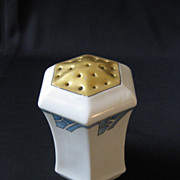 Vintage Signed C.S. Prussia Art Deco Porcelain Muffineer or Shaker