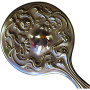 Vintage Art Nouveau Silverplate Miniature Hand Mirror