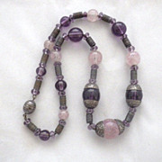 Vintage Venetian Glass Bead Choker Necklace