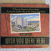 "Vintage Hardbound Hotel Postcard Book ""Wish You Were Here"""