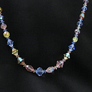 Vintage Pastel Crystal Necklace