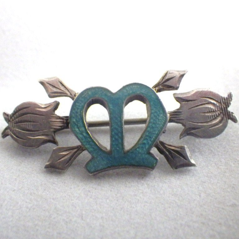 Antique Signed Victorian Sterling Silver Sweetheart Pin
