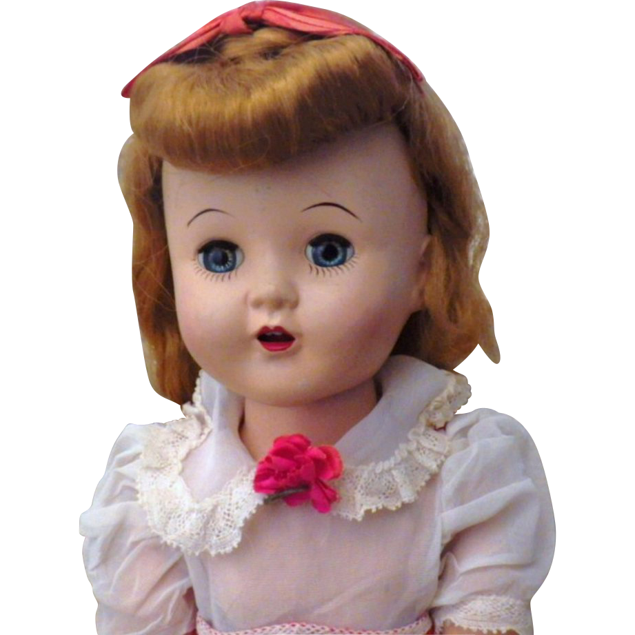 "Hard to Find Vintage Hard Plastic Horsman 16"" Cindy Doll"
