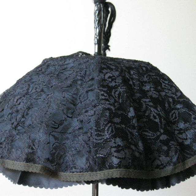 vintage parasol with lace canopy red tag sale item sold