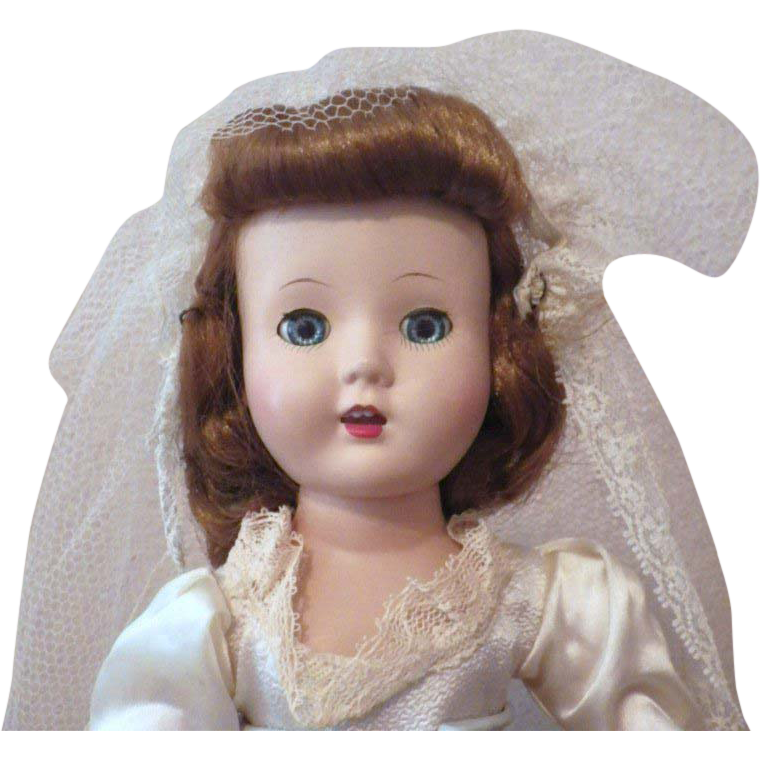 SPECIAL Christmas Price!  Vintage Roberta Doll Company Hard Plastic Bride Doll