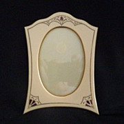 Vintage Art Nouveau French Ivory Picture Frame