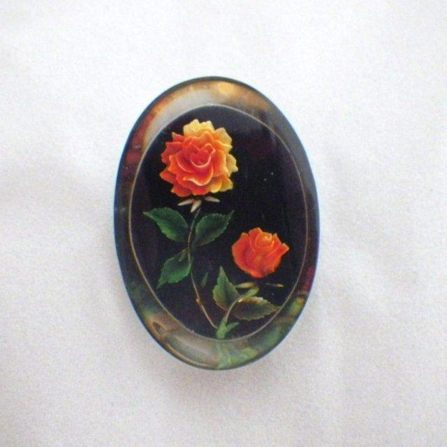 Vintage Lucite Rose Flower Brooch