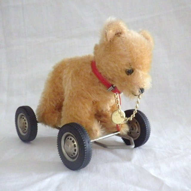 Vintage Hermann Teddy Bear Pull Toy