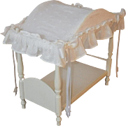 SPECIAL Christmas Price - Vintage Canopy Doll Bed with Linens