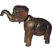 Vintage Metal Elephant Nodder Toy Figurine