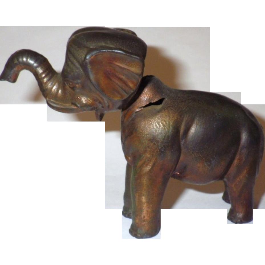 vintage metal elephant nodder toy figurine from blomstromantiques on ruby lane. Black Bedroom Furniture Sets. Home Design Ideas