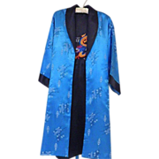 Vintage Reversible Silk Dragon Kimono Robe or Long Jacket