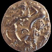 Vintage Art Nouveau Silver Mermaid Brooch/Pendant