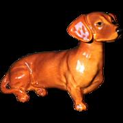 Scarce Vintage Signed Beswick Dachshund Dog Figurine