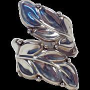 Vintage Signed Sterling Silver Bypass Clamper Bracelet