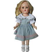 "SPECIAL Christmas Price!  Hard to Find Vintage Ideal 90 W 14"" Hard Plastic Walker Toni Doll"