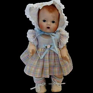 Vintage Reproduction Bisque Porcelain Tiny Tears Doll