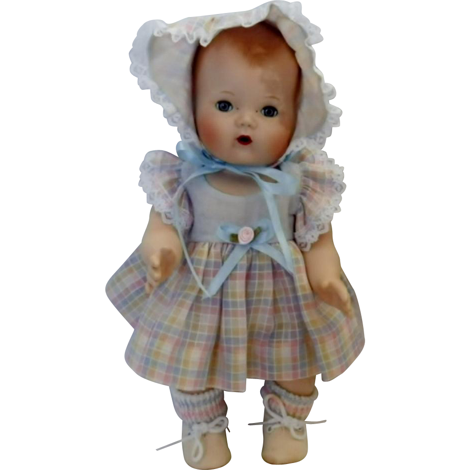 Vintage Reproduction Bisque Porcelain Tiny Tears Doll
