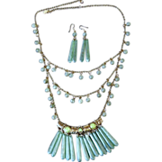 Vintage Signed Egyptian or Grecian Style Set