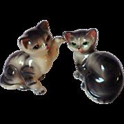 RESERVED for Nancy - Vintage Set of Two Porcelain Cat Figurines