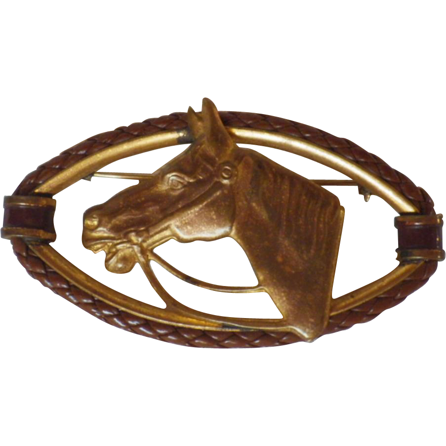 Vintage Horse Head Brooch