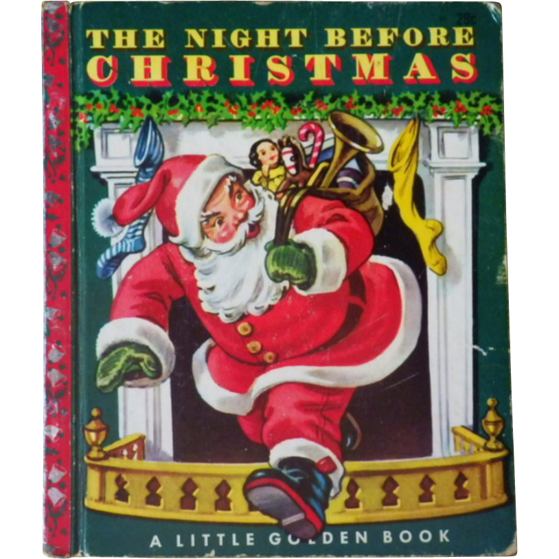 "Vintage Children's Little Golden Book - ""The Night Before Christmas"""