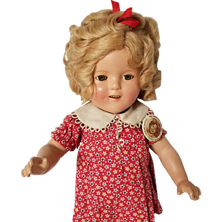 All Original Vintage Ideal Composition 16 Inch Shirley Temple Doll