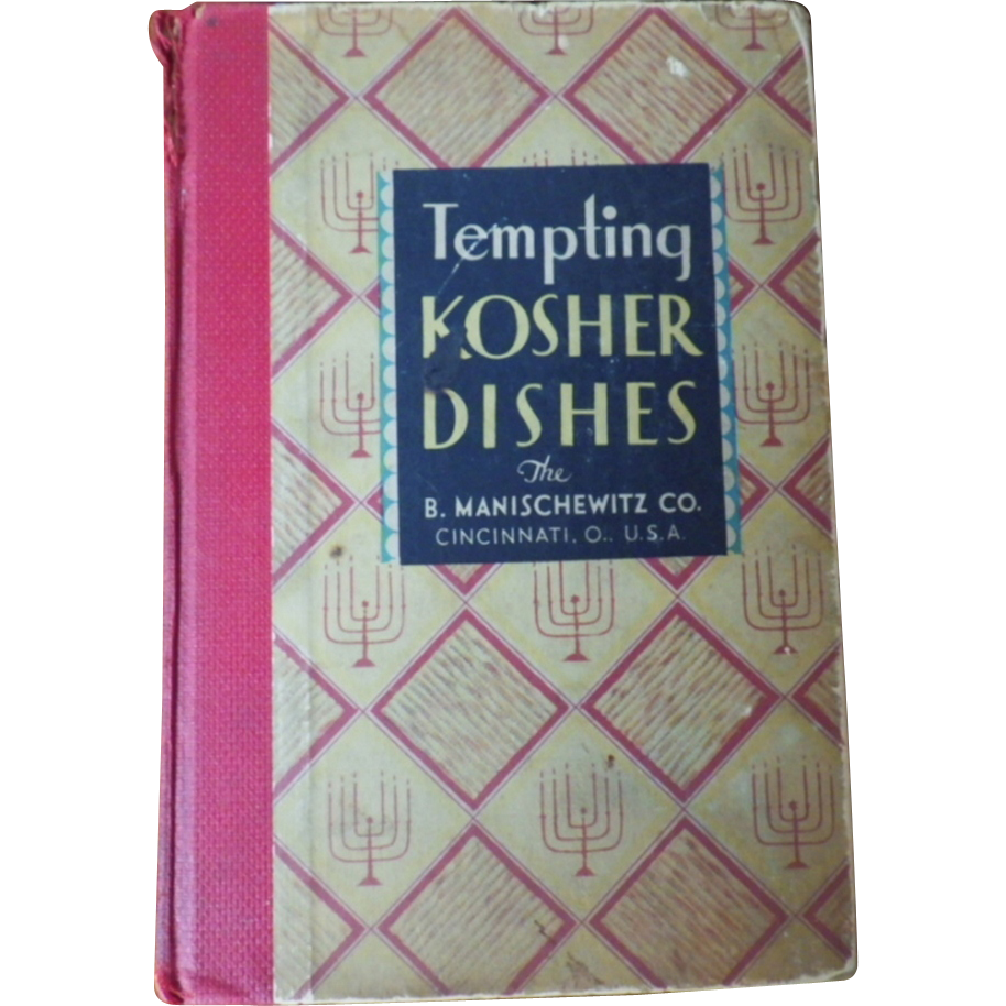 """Vintage Hard Bound Cookbook - """"Tempting KOSHER DISHES"""""""