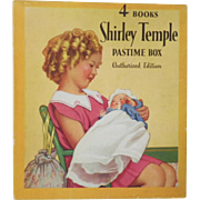Rare Vintage Shirley Temple Pastime Box Four Book Set