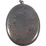 Antique Large Sterling Silver Locket