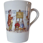 Vintage Bone China Cat & Mouse Teacher Motto Mug