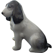 Vintage Signed Metzler and Ortloff Miniature Porcelain Beagle Dog Figurine