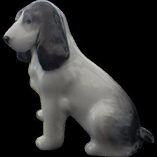 Vintage Signed Metzler and Ortloff Miniature Porcelain Beagle Dog Figurine