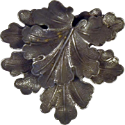 Vintage Signed French Leaf Dress Clip