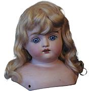 """Antique Kestner """"F"""" Bisque Doll Turned Head"""