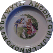 Vintage ABC Children's Porcelain Dish