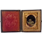 Antique Union Case with Infant Photo