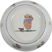 Rare Vintage Empire China Patriotic Child's Dish