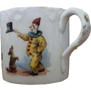Vintage Porcelain Child or Doll Circus Clown Cup