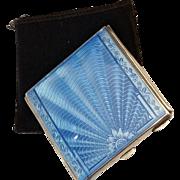 Vintage Art Deco Guilloche Enamel Compact