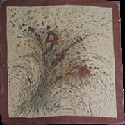 Vintage Autumn Silk Scarf