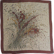 Vintage Autumn Silk Scarf